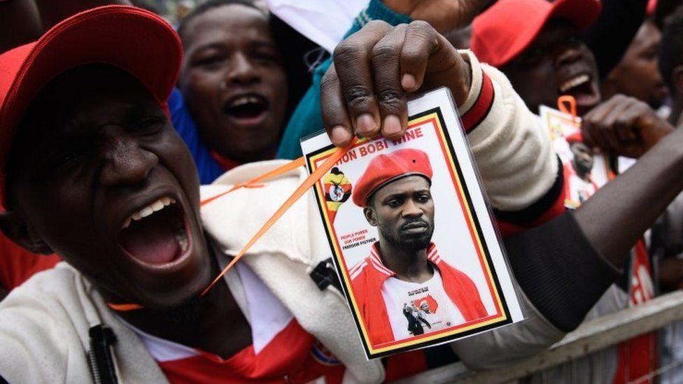 Fans attend a Bobi Wine concert in Uganda
