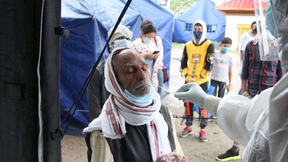 Antigen tests at Nepal's border with India