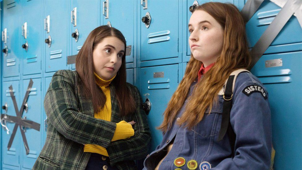 Beanie Feldstein and Kaitlyn Dever a
