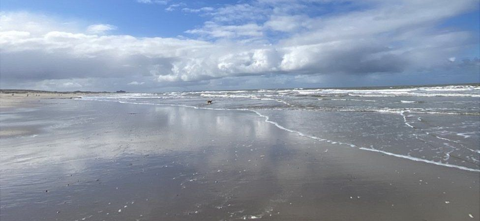 Beaches are quiet in the Netherlands