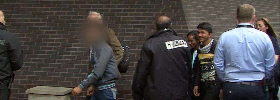 Migrant arriving in Croydon