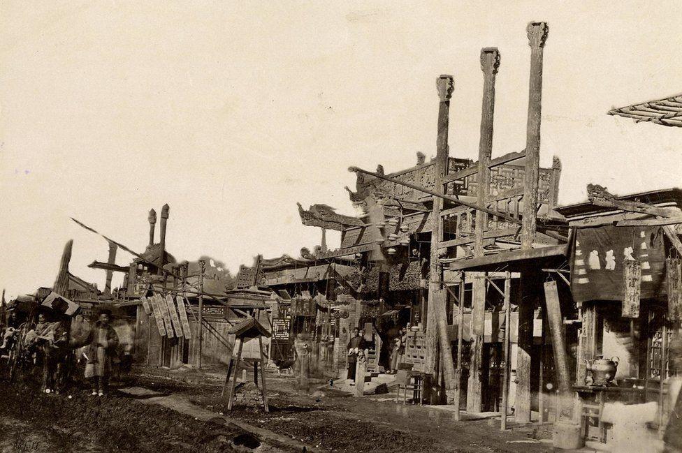 Thomas Child. No. 85. Peking Streets. 1870s. Albumen silver print.