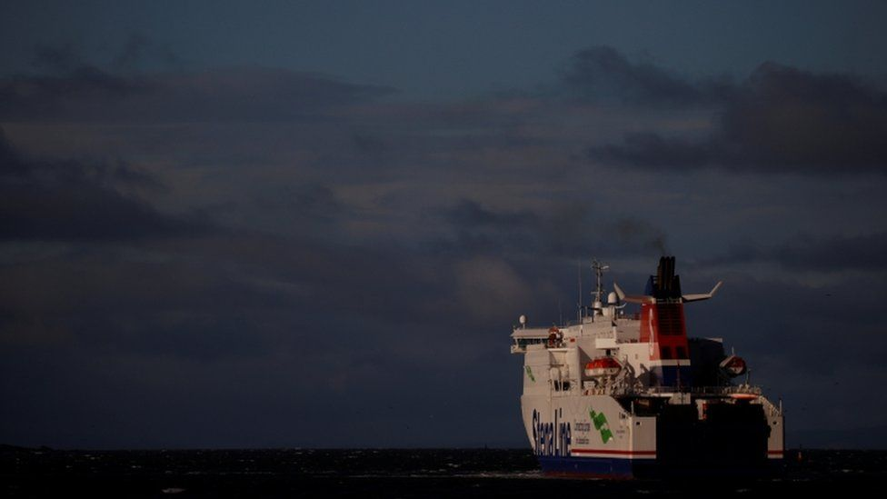 Stenaline ferry leaving NI