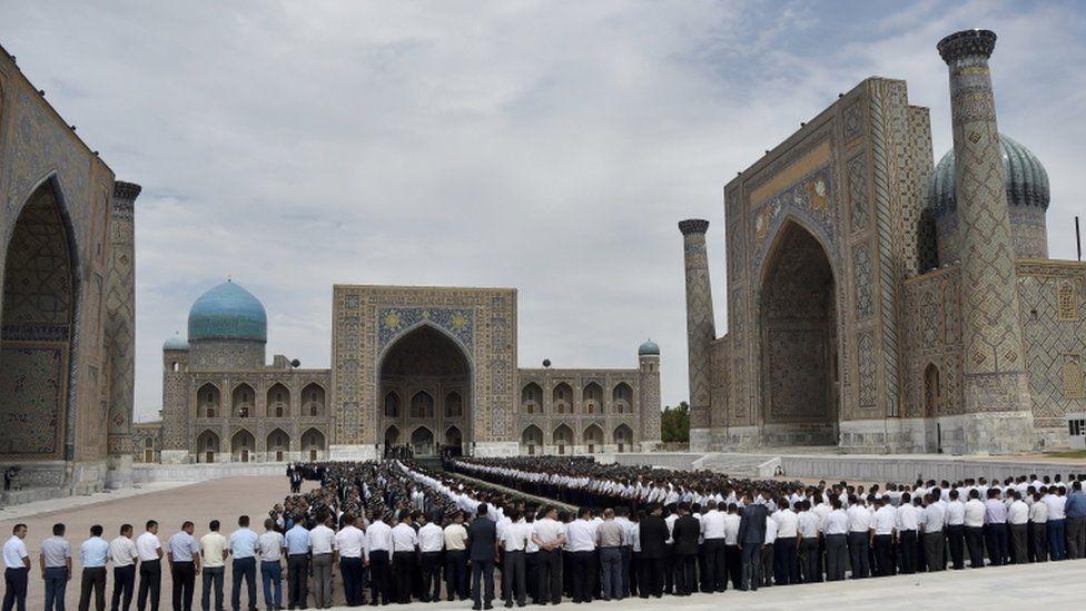 Samarkand's historic Registan square
