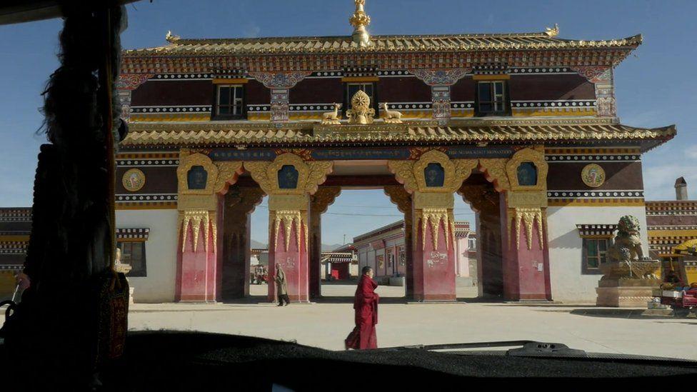 Facade of Kirti Monastery as filmed by a BBC crew in October 2015