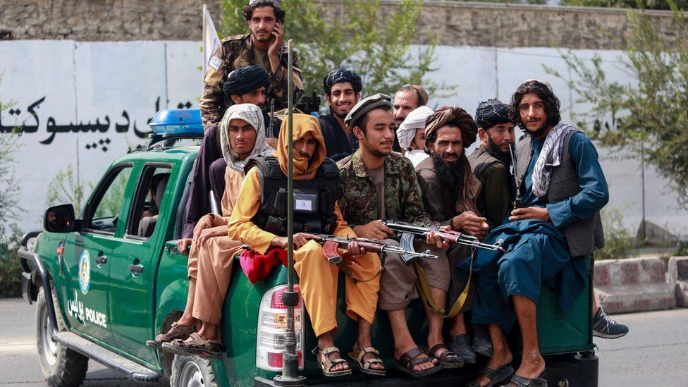 Taliban patrol in Kabul on 23 September 2021
