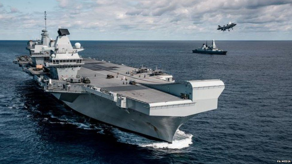 HMS Queen Elizabeth and sister ship HMS Prince of Wales
