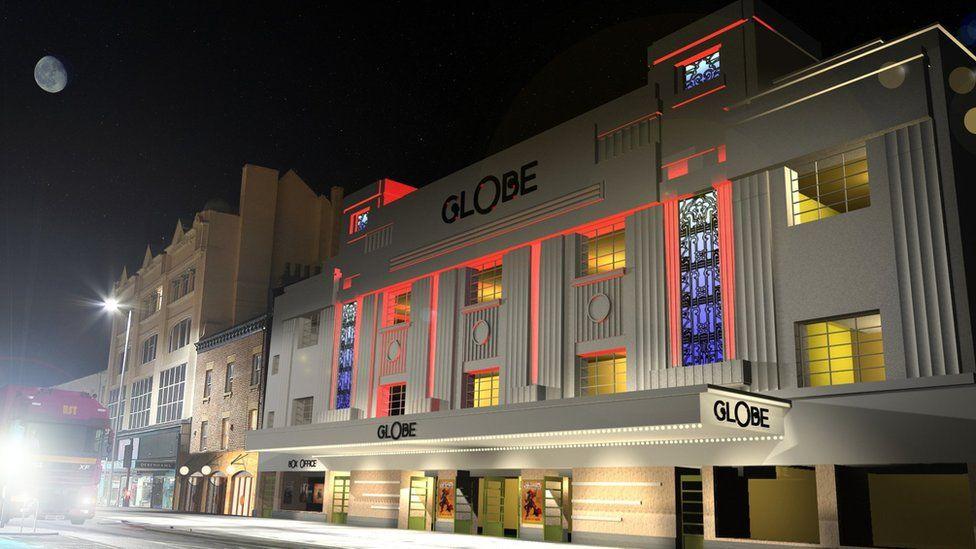 Artist's impression of revamped Globe Theatre