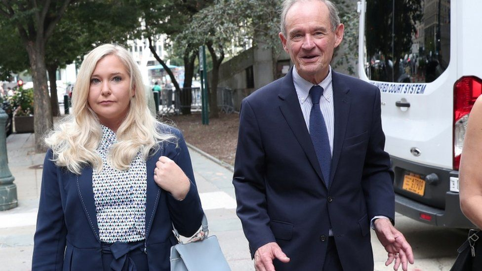 Virginia Giuffre and her lawyer, David Boies