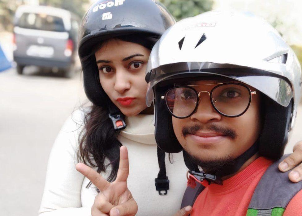 Bibi Ayisha and Aditya Verma pose for a selfie