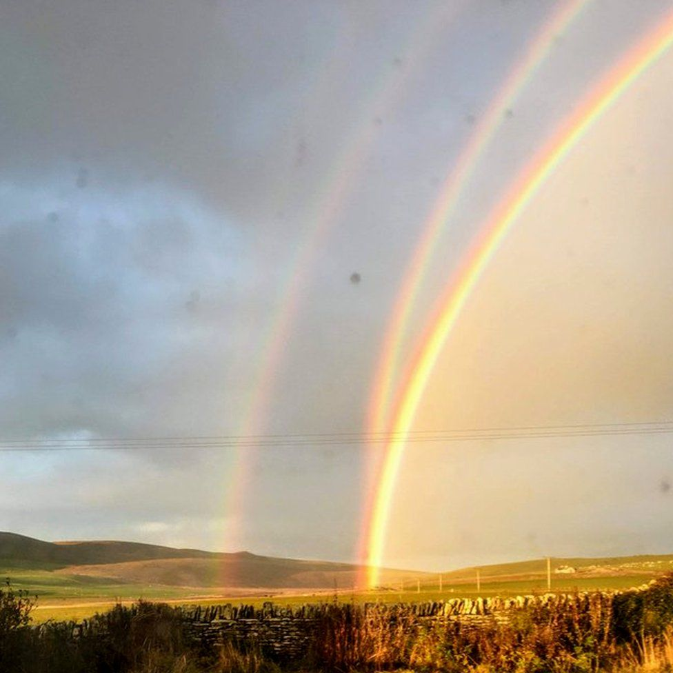Quadruple rainbow in Orkney