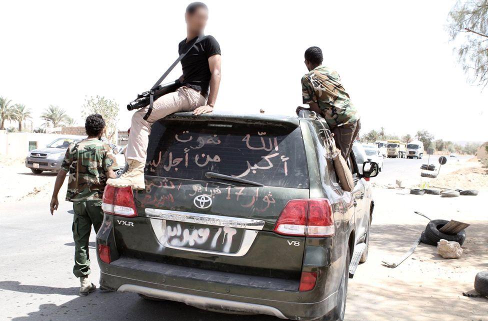 Rifle being captured in Libya