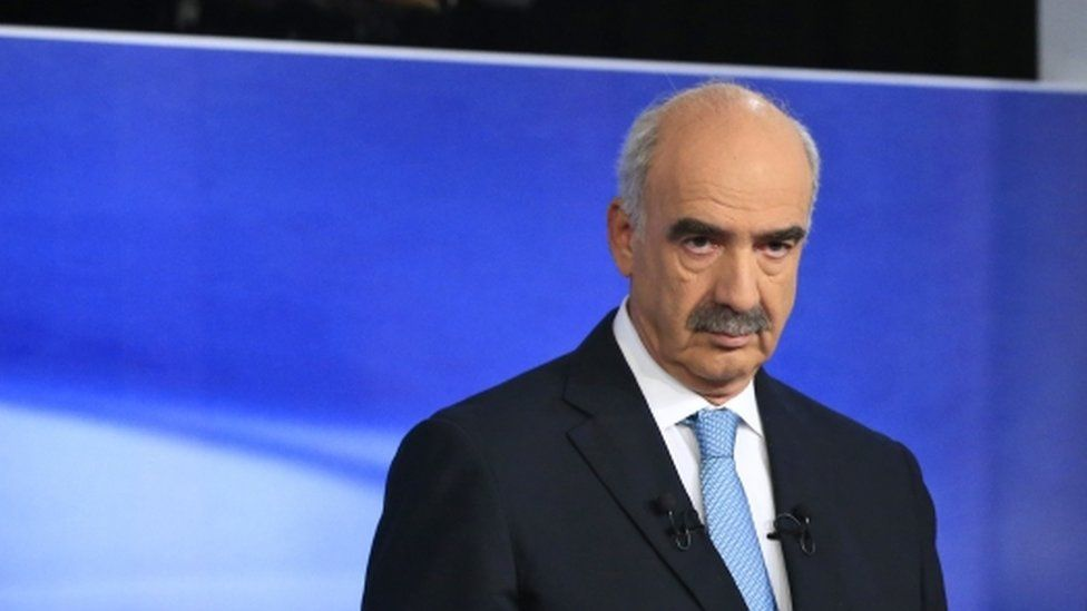 Vangelis Meimarakis, the head of Greece's main opposition conservative New Democracy party