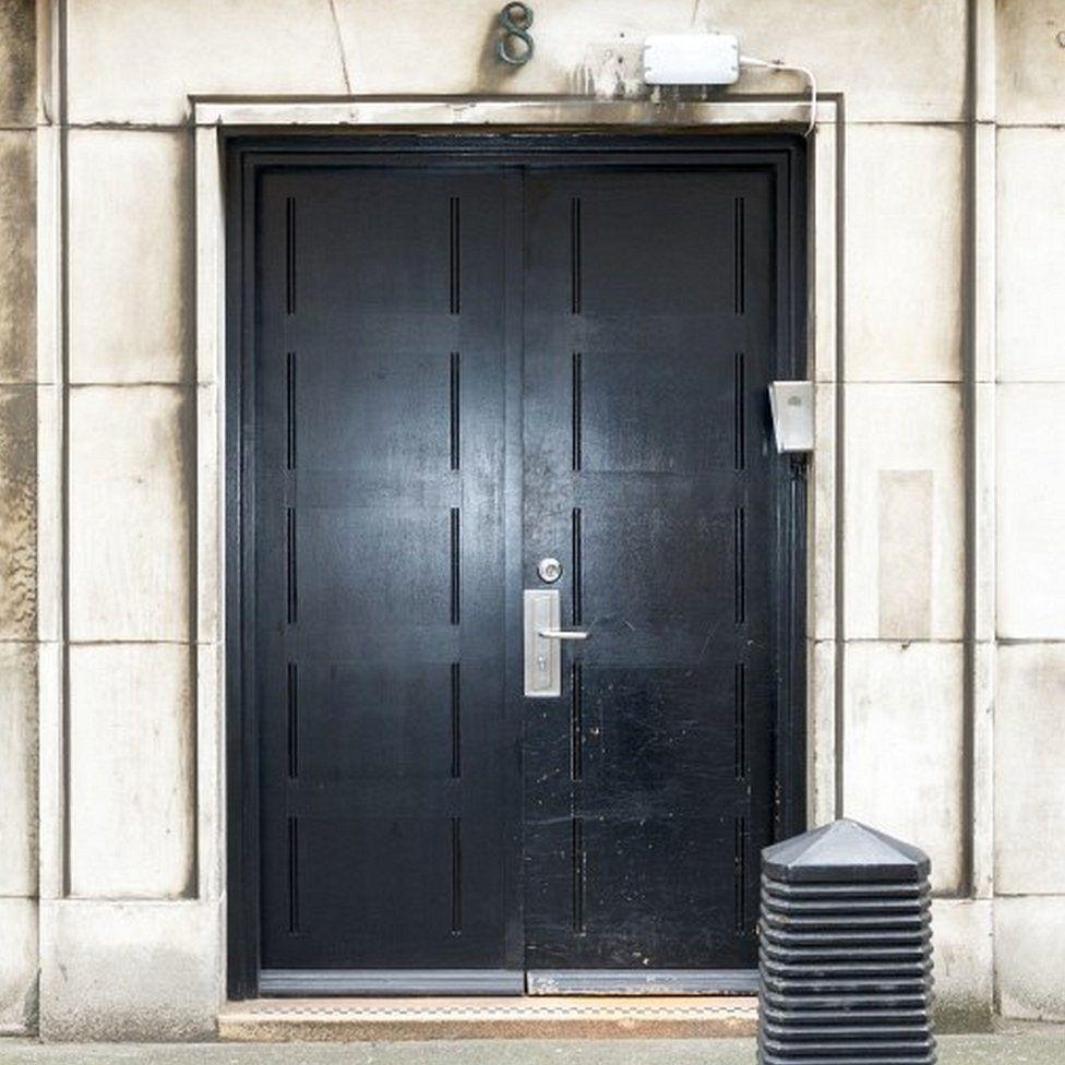 Doorway into building
