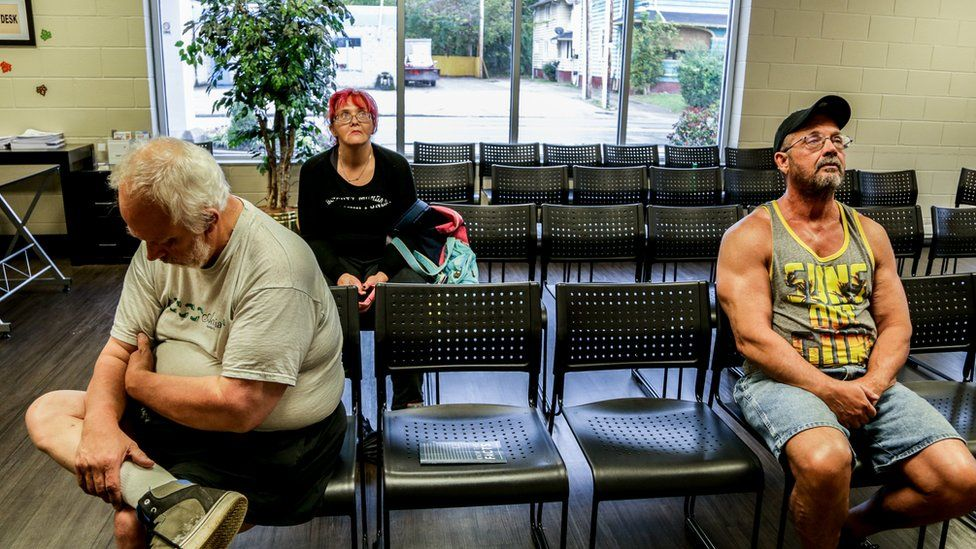 The waiting room at WVHR