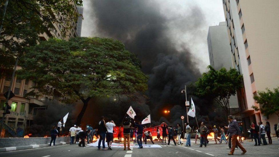Protest in Sao Paulo