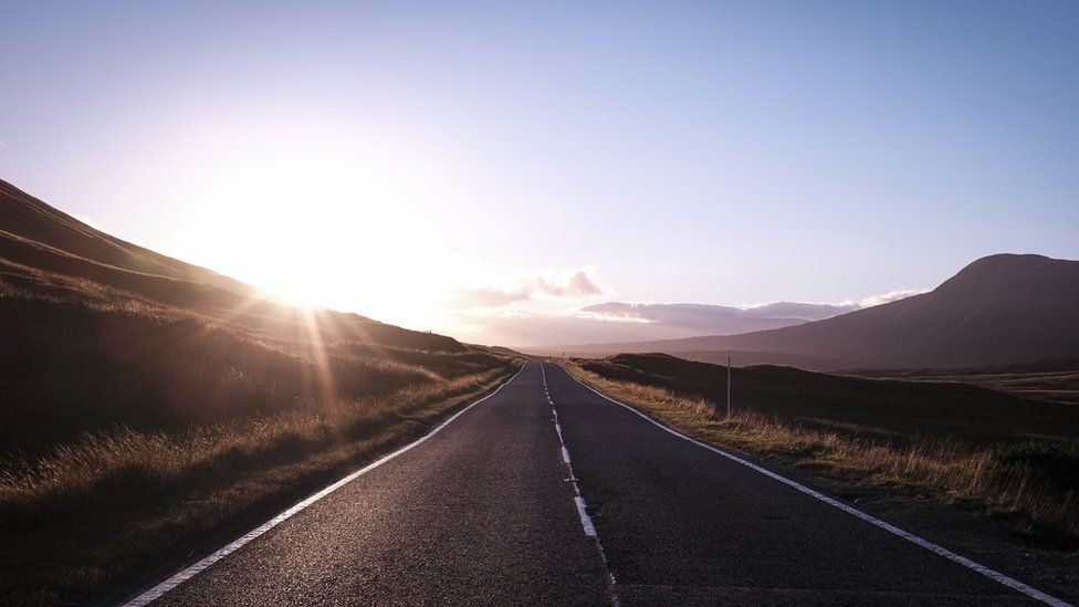 """Alec Farmer was doing a """"dawn dash"""" from Glen Affric to Glasgow when the sun rose over Glencoe. """"Not a bad commute,"""" he said."""