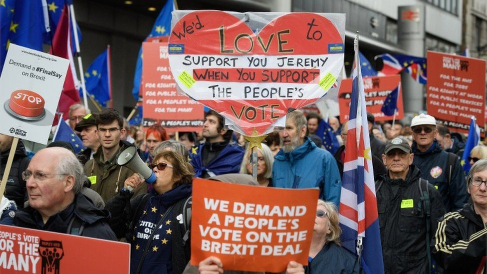 """""""People's Vote"""" campaigners march in Liverpool"""