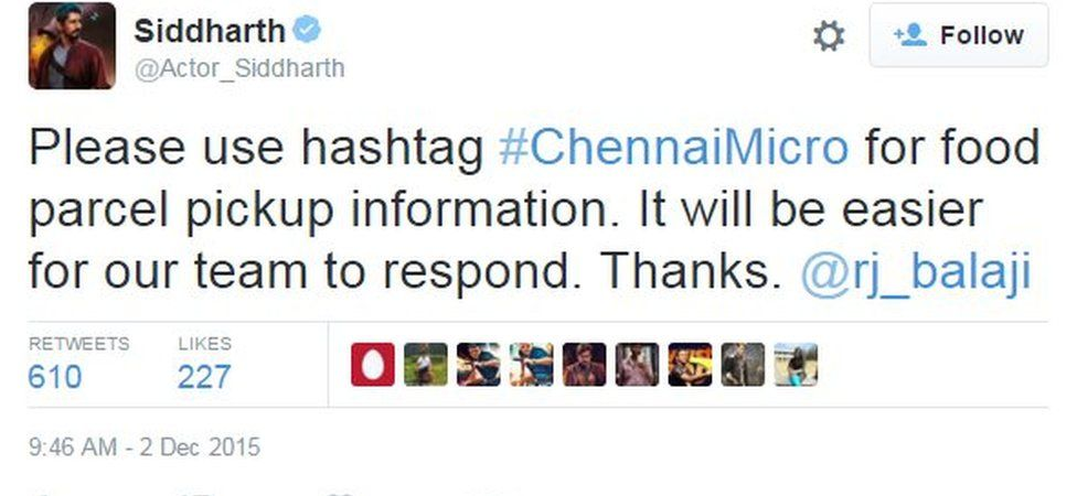 Please use hashtag #ChennaiMicro for food parcel pickup information. It will be easier for our team to respond. Thanks. @rj_balaji