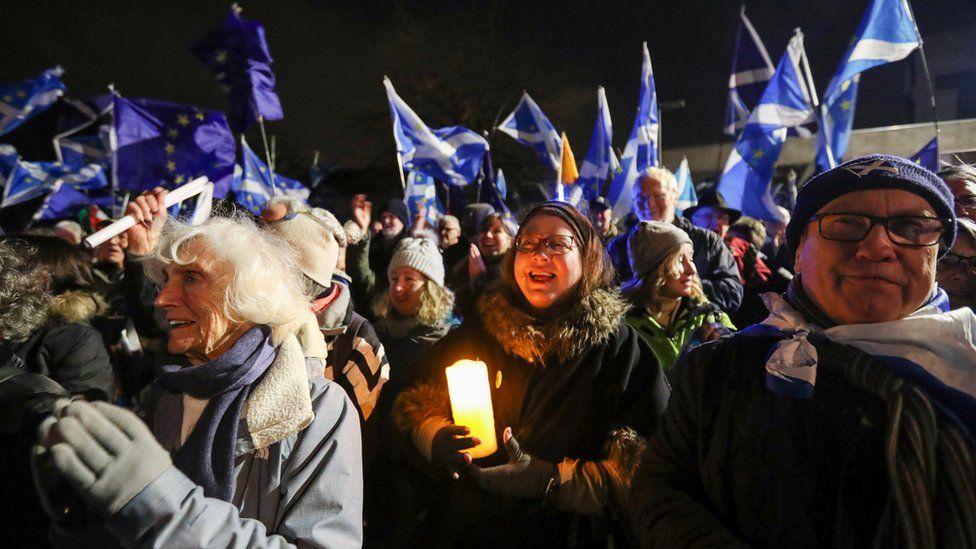 candlelit vigil in Edinburgh