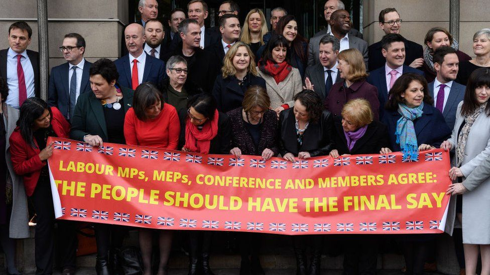 Labour MPs campaigning for a further referendum