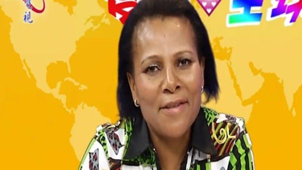Lipolelo Thabane - screengrab from China TV