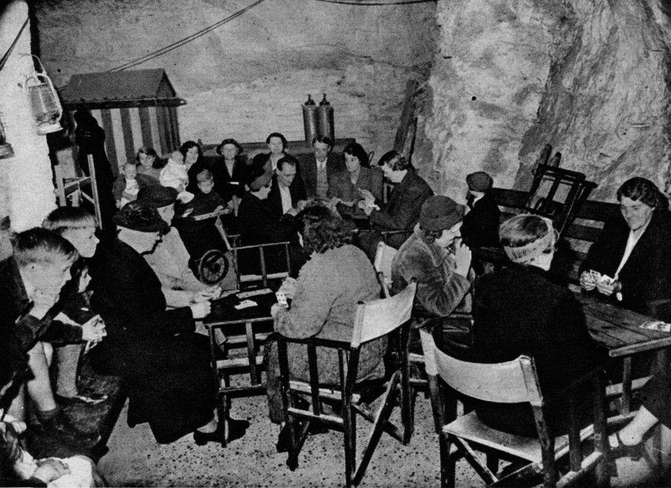 Whist drive in Chislehurst Caves