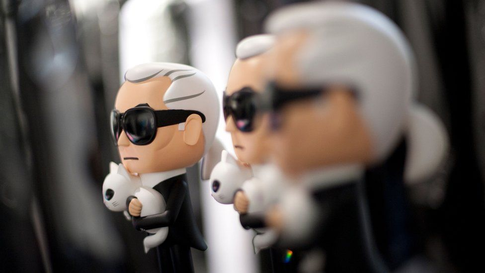 Model of Lagerfeld and Choupette