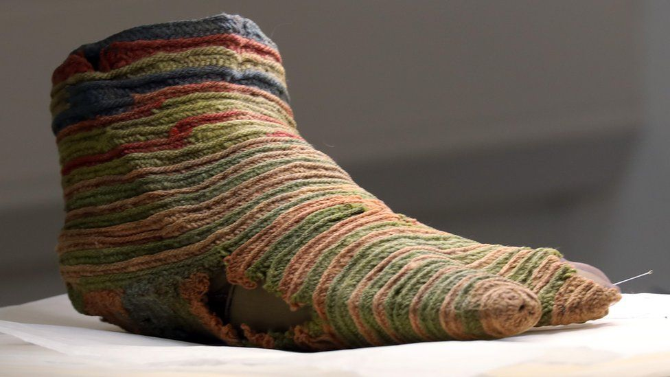 An ancient Egyptian Coptic sock