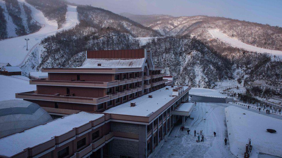 Image shows the Masikryong ski resort in North Korea