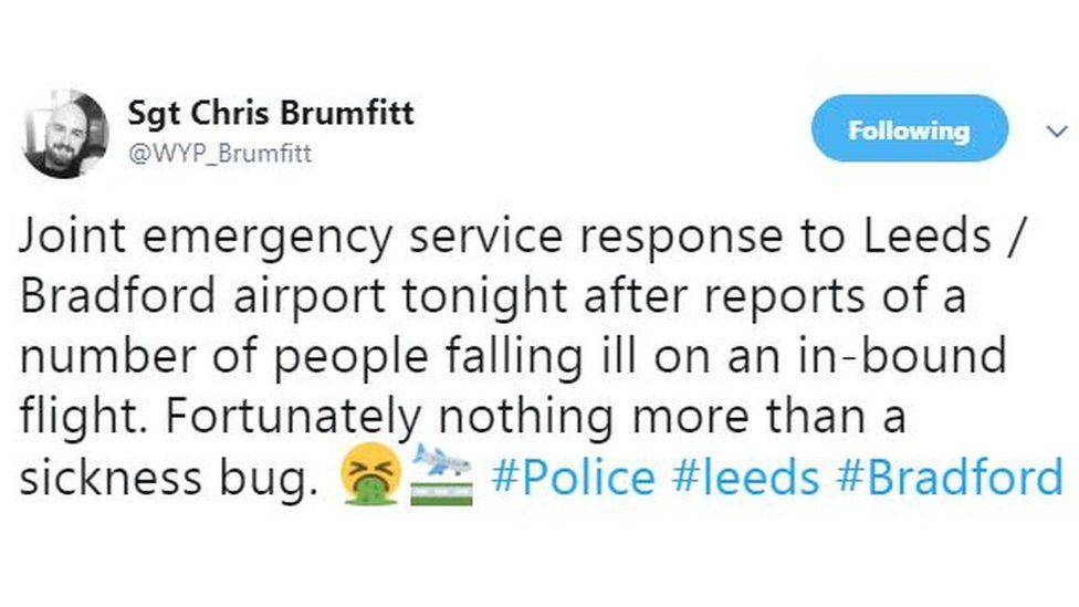 The tweet by the police officer