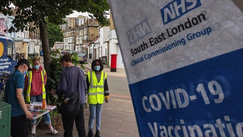 Pop-up vaccine hub in South London