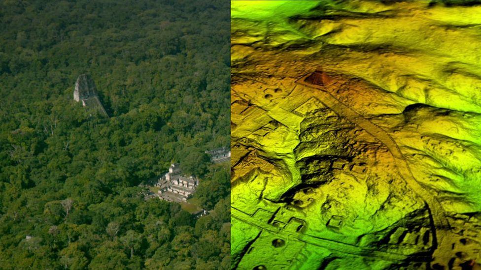 Las impresionantes ruinas mayas descubiertas con una nueva tecnología láser en la jungla de Guatemala