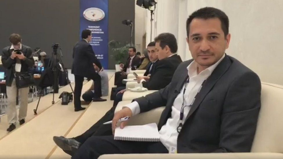 Ibrat Safo at the international summit on the peace process in Afghanistan