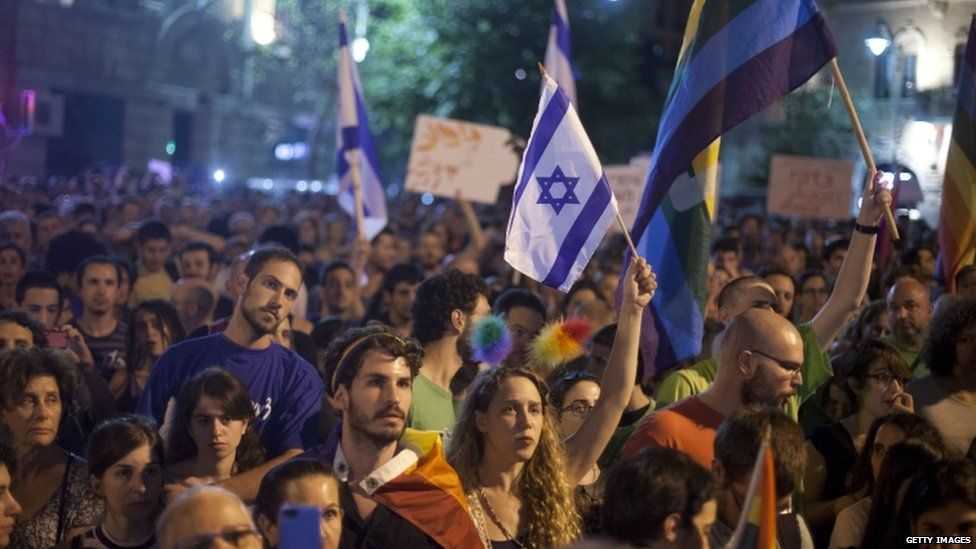 Thousands attended an anti-homophobia rally on Saturday in Jerusalem