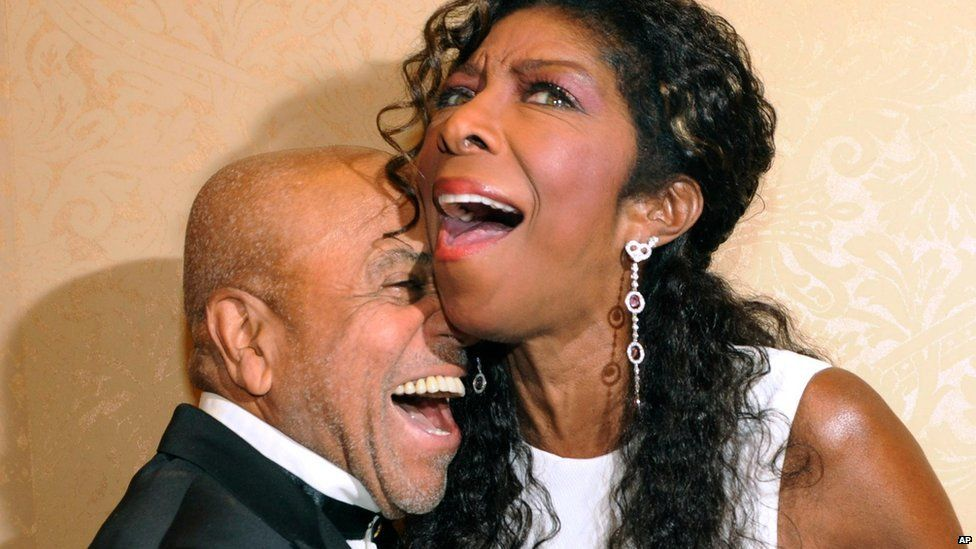 Berry Gordy and Natalie Cole