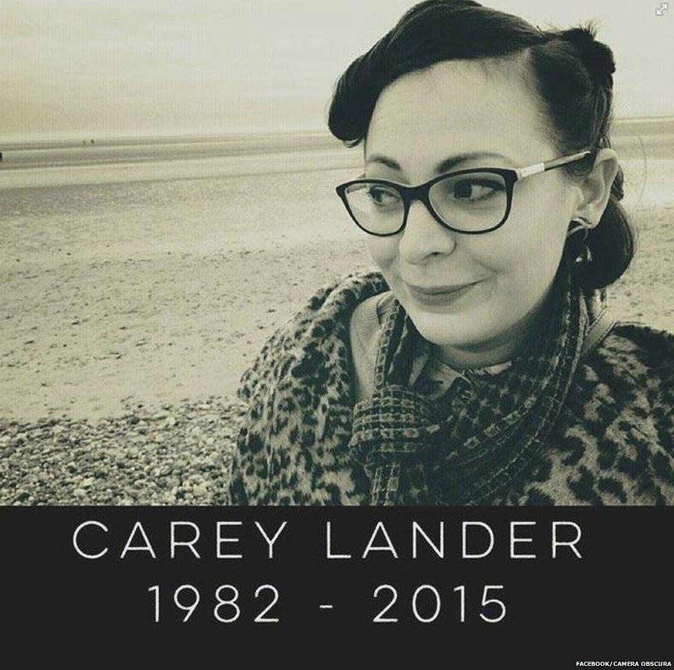 Carey Lander Facebook tribute
