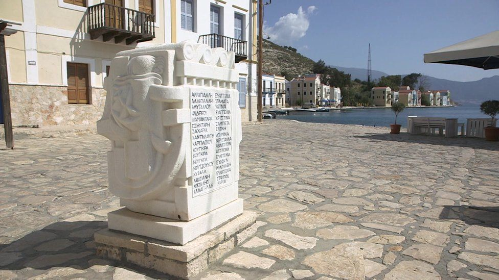 Kastelorizo memorial to Empire Patrol disaster