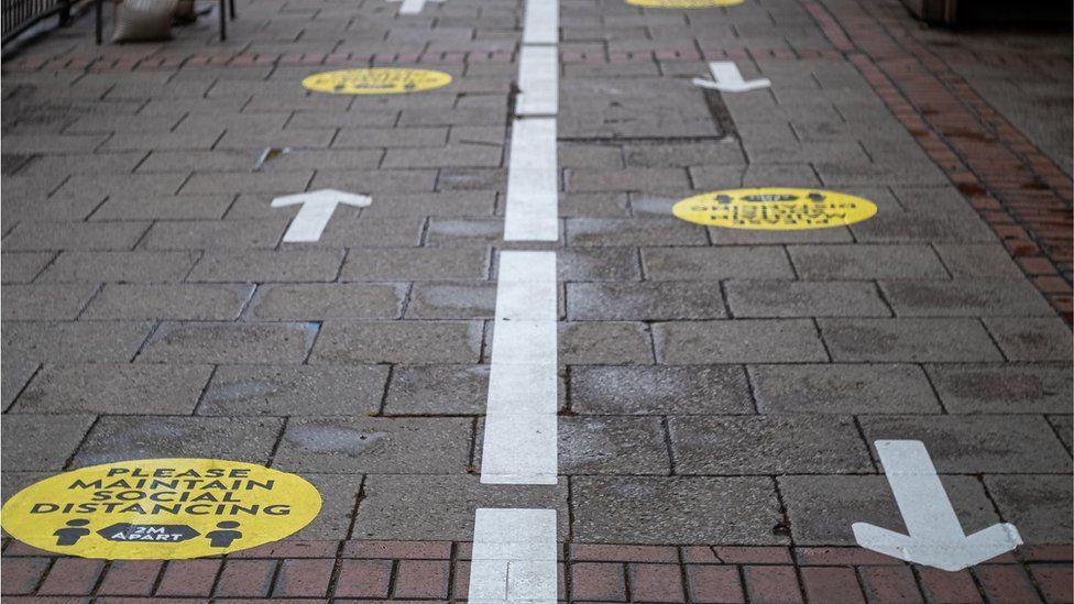 Social distancing guidelines in Birmingham