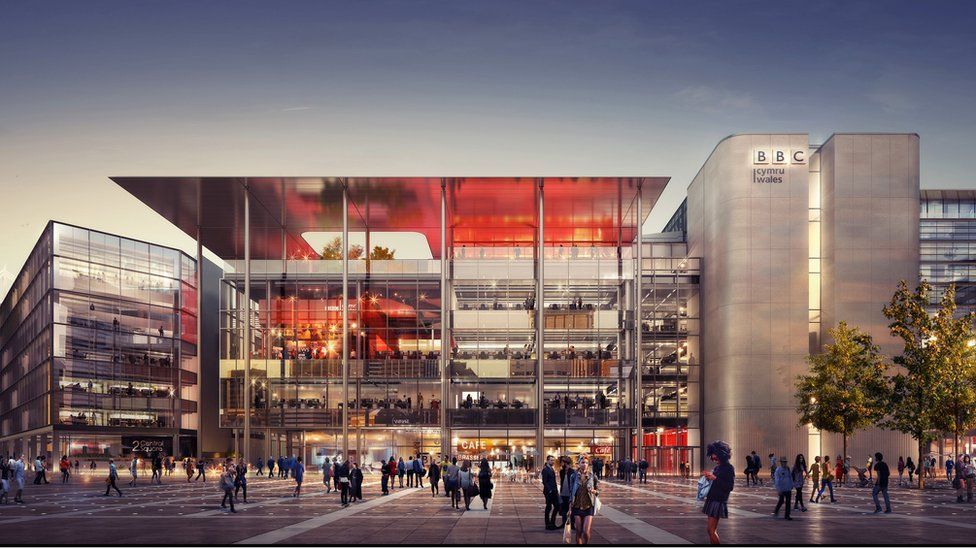 Image of new BBC Wales building in Central Square Cardiff