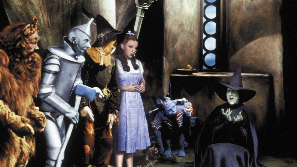 A scene of the Wicked Witch of the West melting in the classic film, the Wizard of Oz