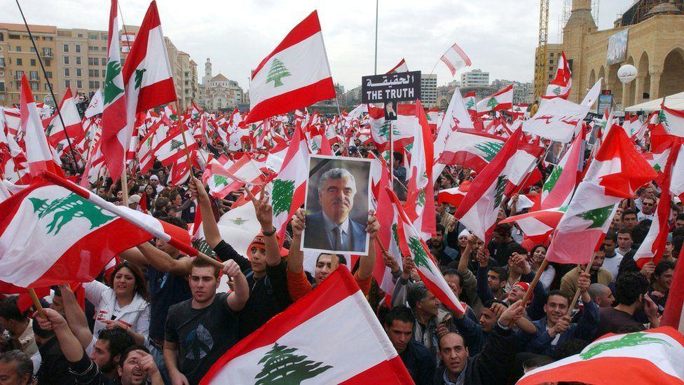 Pro-Hariri protest in Beirut (07/03/05)