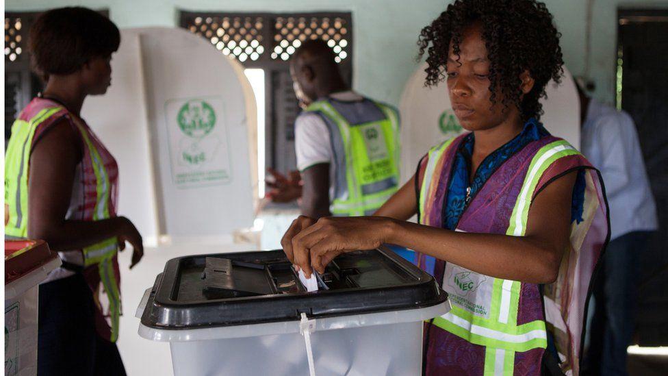 Electoral assessors in Port Harcourt, Nigeria - 2015