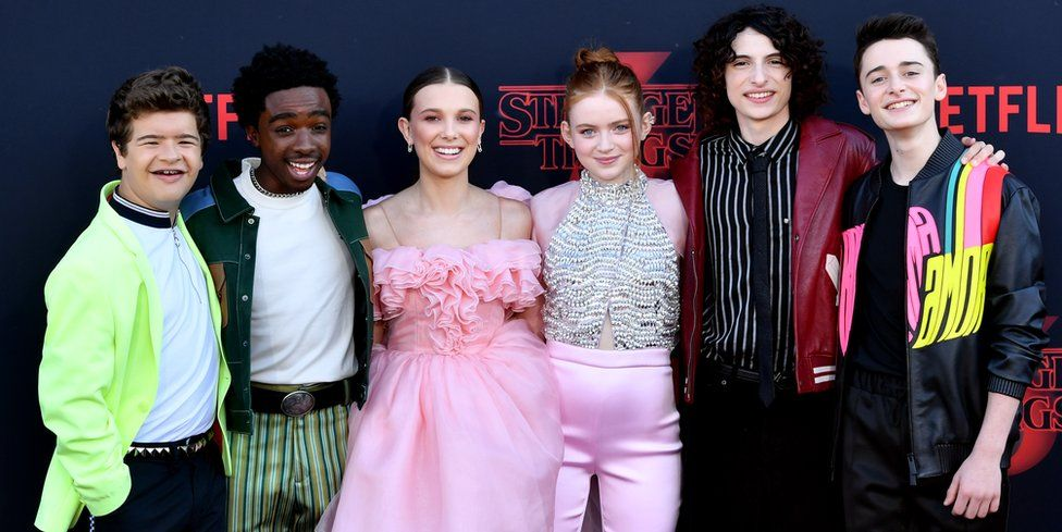 The cast of Stranger Things