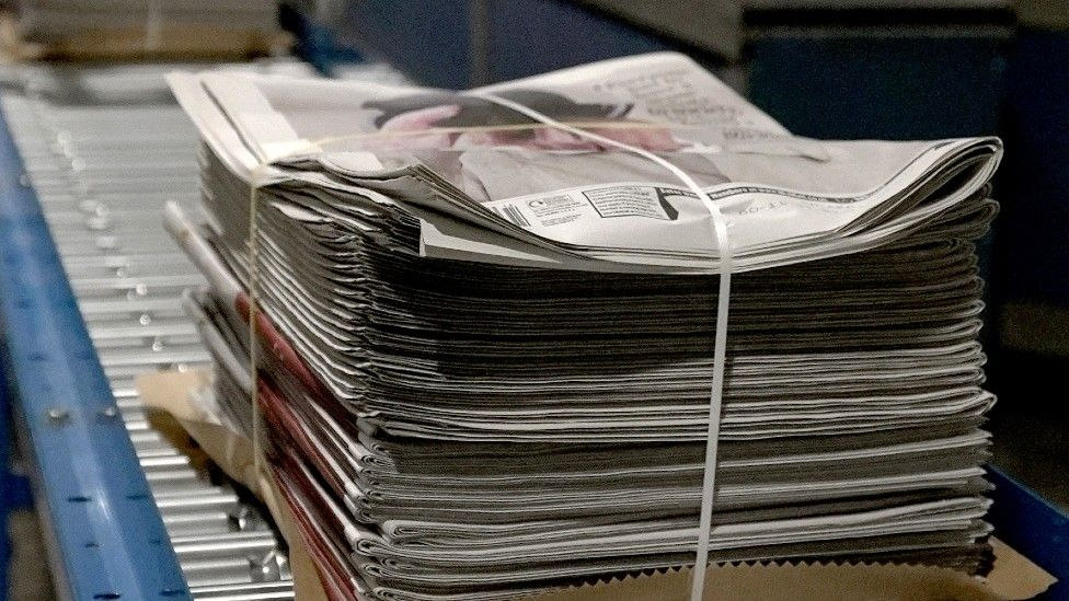 The Daily Mail newspaper being printed