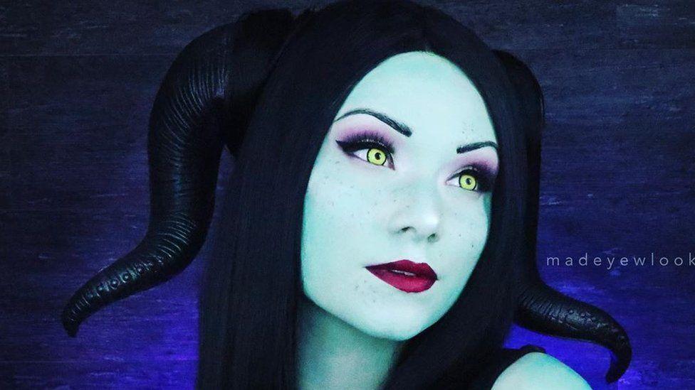 Lex paints herself as Disney character Maleficent as a Disney Princess