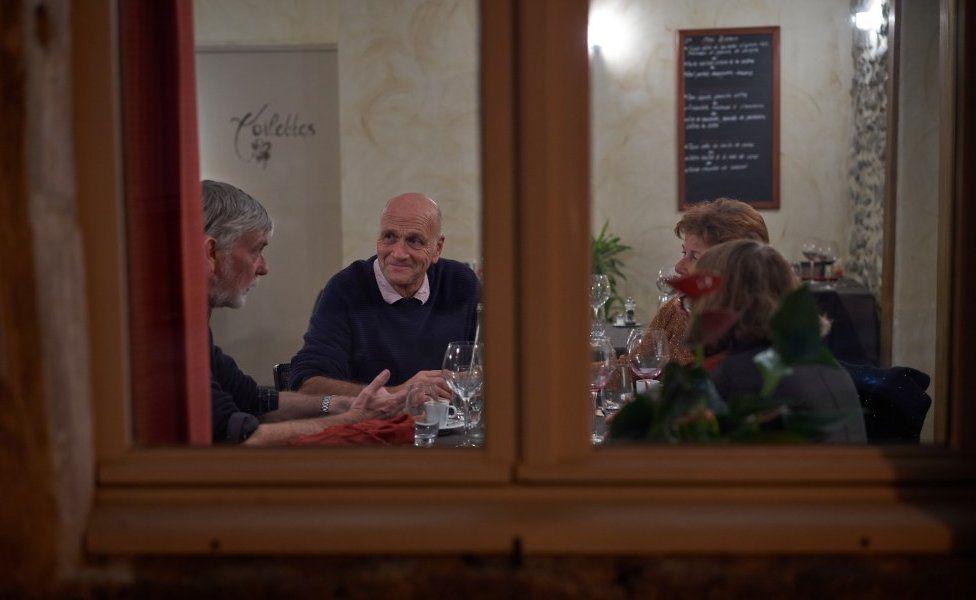 British customers at L'Odalisque restaurant