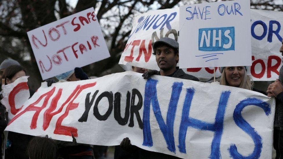 Junior doctors on strike