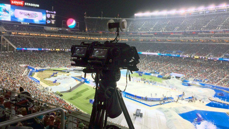 NextVR camera at sporting event