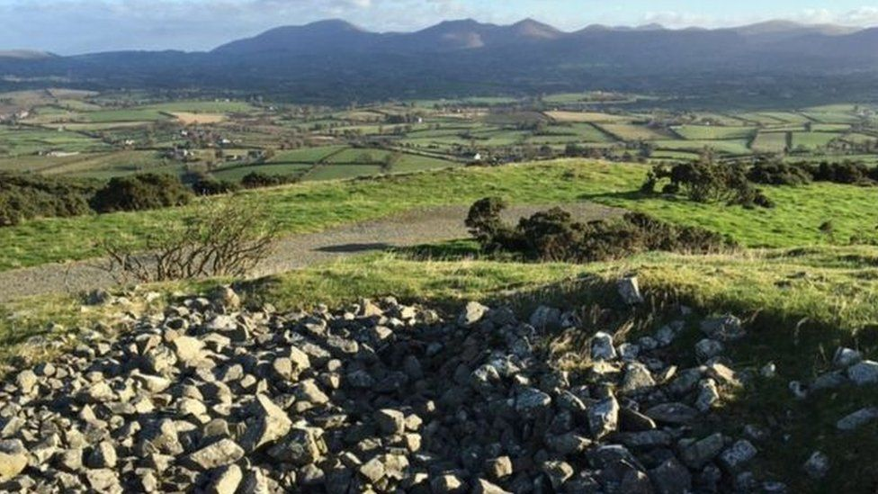 The view from Knock Iveagh Cairn outside Rathfriland